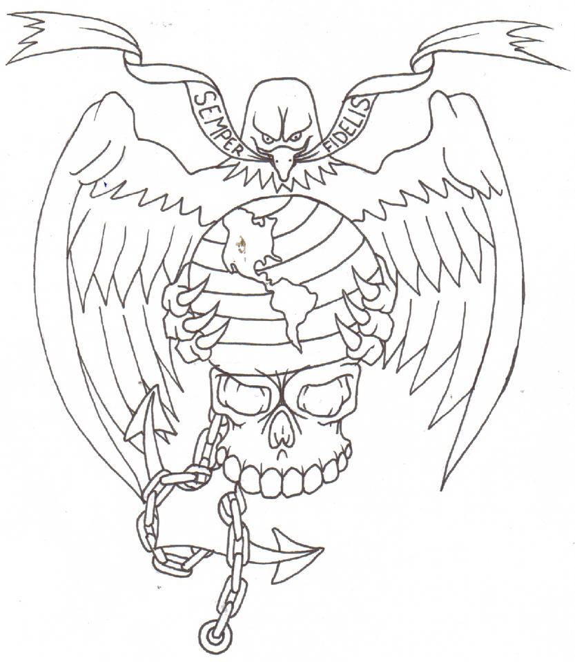 marine corps tattoo flash by thought corrosion on deviantart