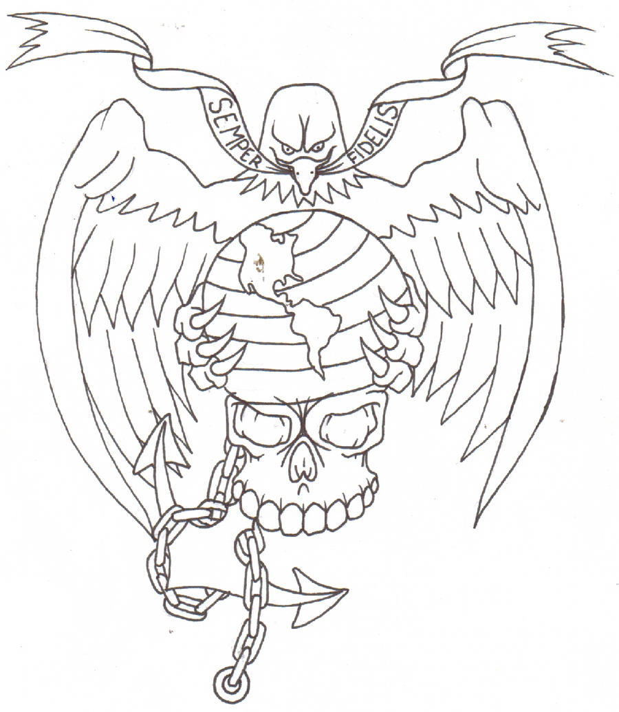 marine corp coloring pages - photo#32