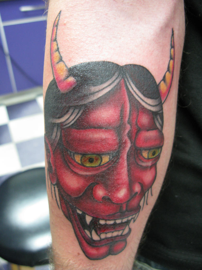 Oni Mask Tattoo: Oni Mask Tattoo By Thought-corrosion On DeviantArt