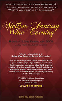Mellow Wine Evening Ticket