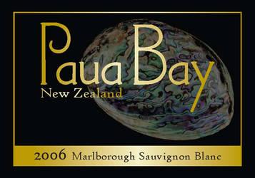 Paua Bay Wine Label