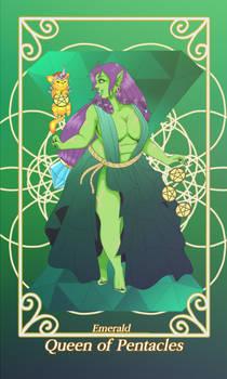 Queen of Pentacles- Emerald