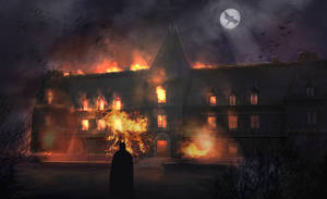 Wayne Manor Burns by mutiny-in-the-air