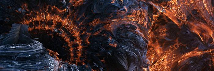 Flaming Gates Of Hell by dakonoco