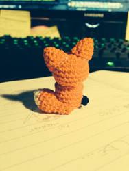 Thinking Chibi Fox Amigurumi by MushaMurron