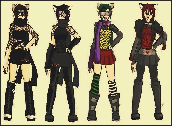 ninja girls by Ai-09 on DeviantArt