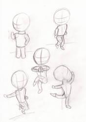 Doodlebook: Five random poses