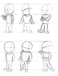 Doodlebook: Random Standing Poses