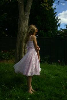 Girl in pink dress stock 2