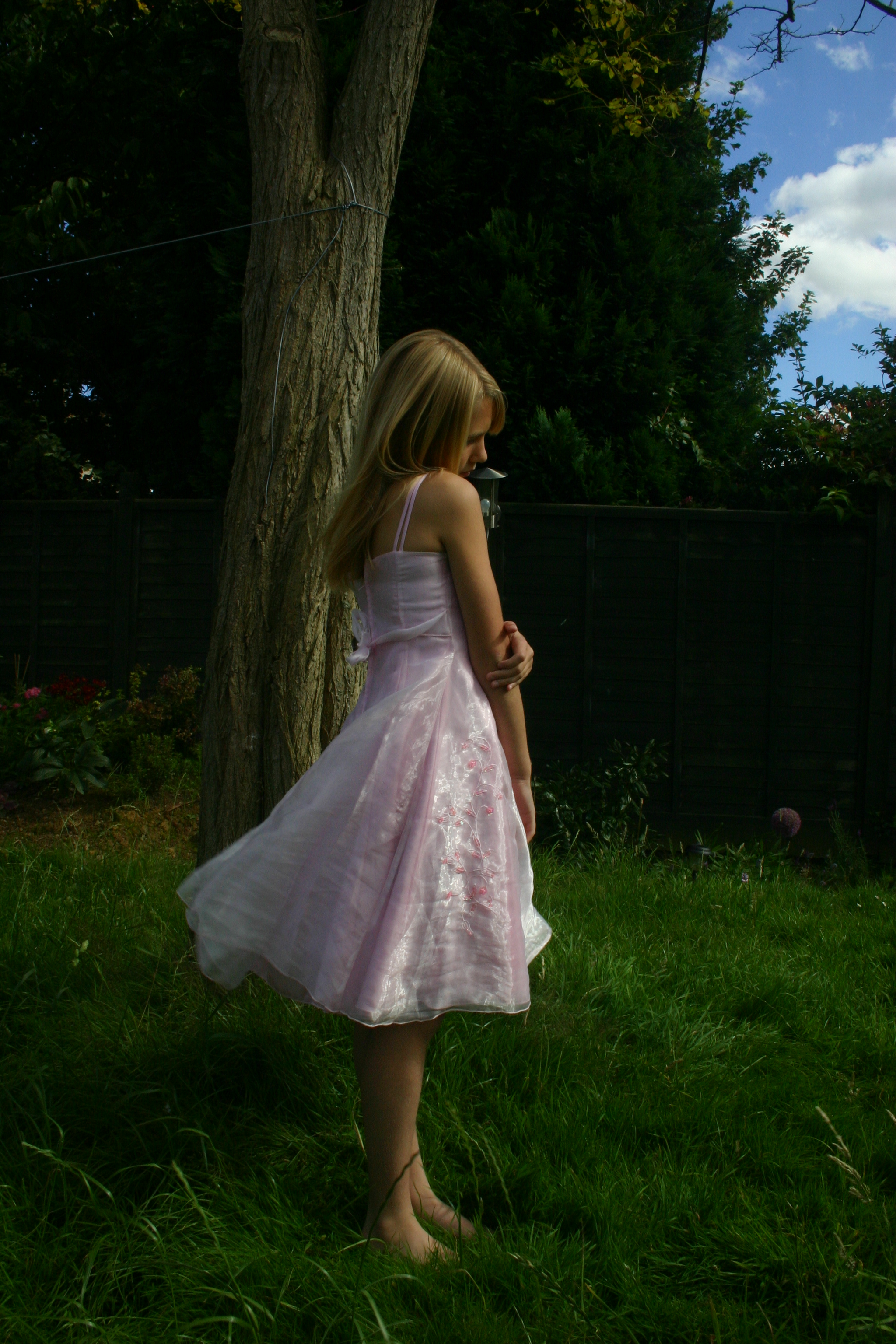 Girl in pink dress stock 2 by A68Stock