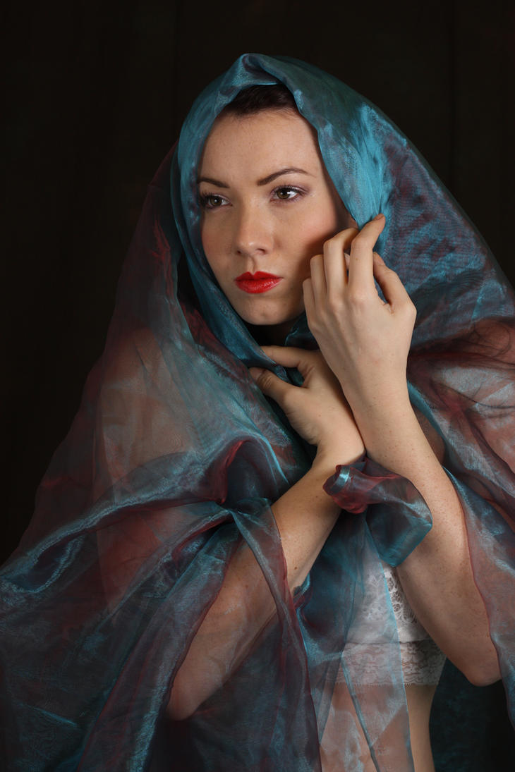 Laura in blue voile 1 by A68Stock