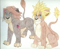 Leon and Cloud as Lions