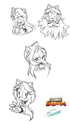 Sonic Boom Jasmine Sketches
