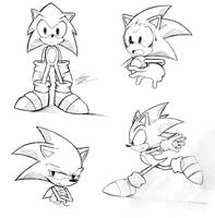 Sonic Sketches by ten-heart