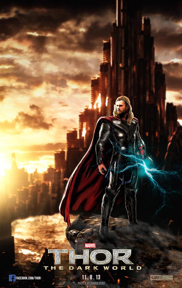 thor the dark world poster 2013 by rbmdesigns97 on