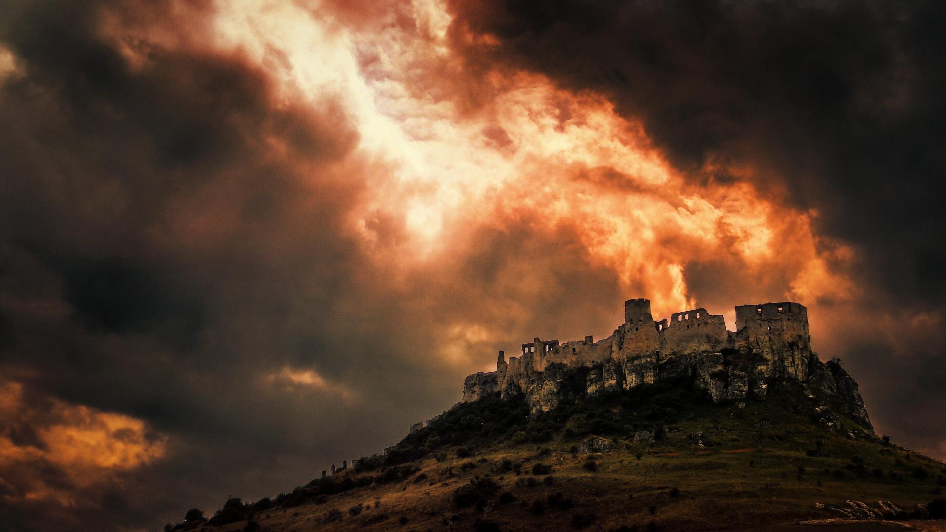 замки картинки в огнях строительство использованием пенобетонных