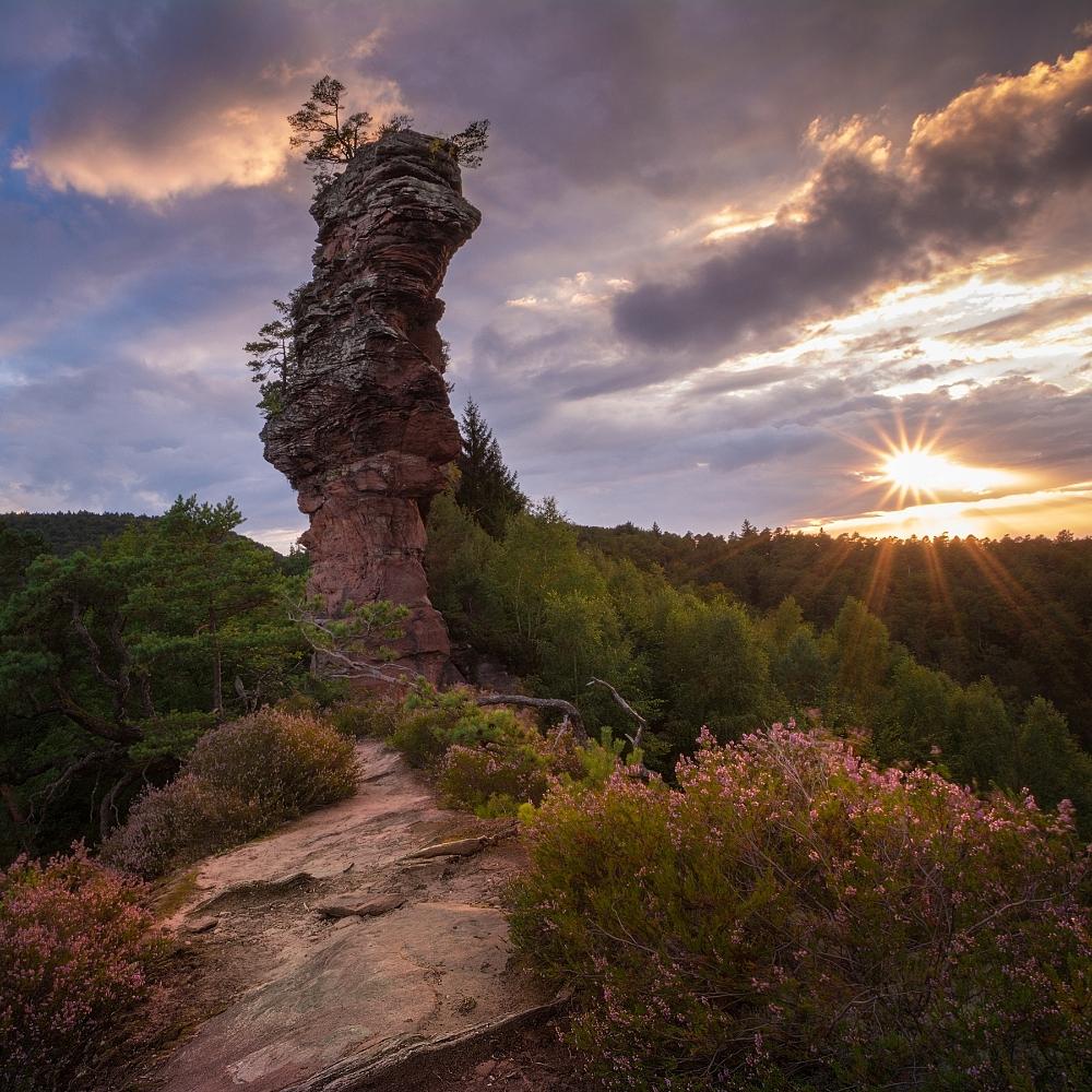 Sonnenuntergang auf dem Laemmerfelsen by EmmmBeee