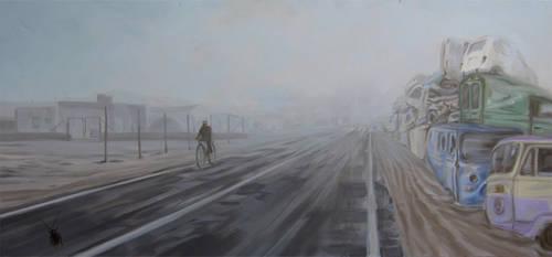 Cyclist by AL1970ART