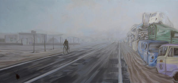 Cyclist by AL1970ART