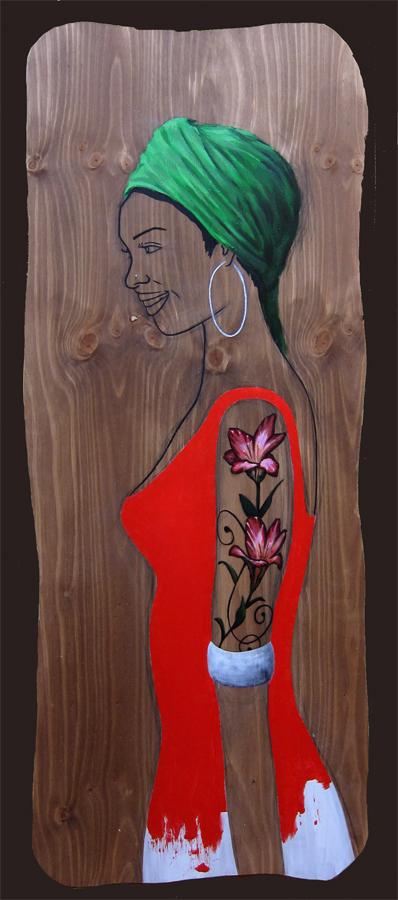 Woman  profile by AL1970ART