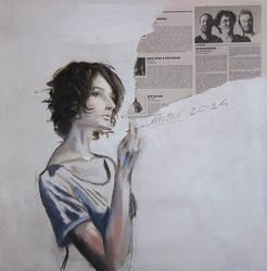 smoking girl by AL1970ART
