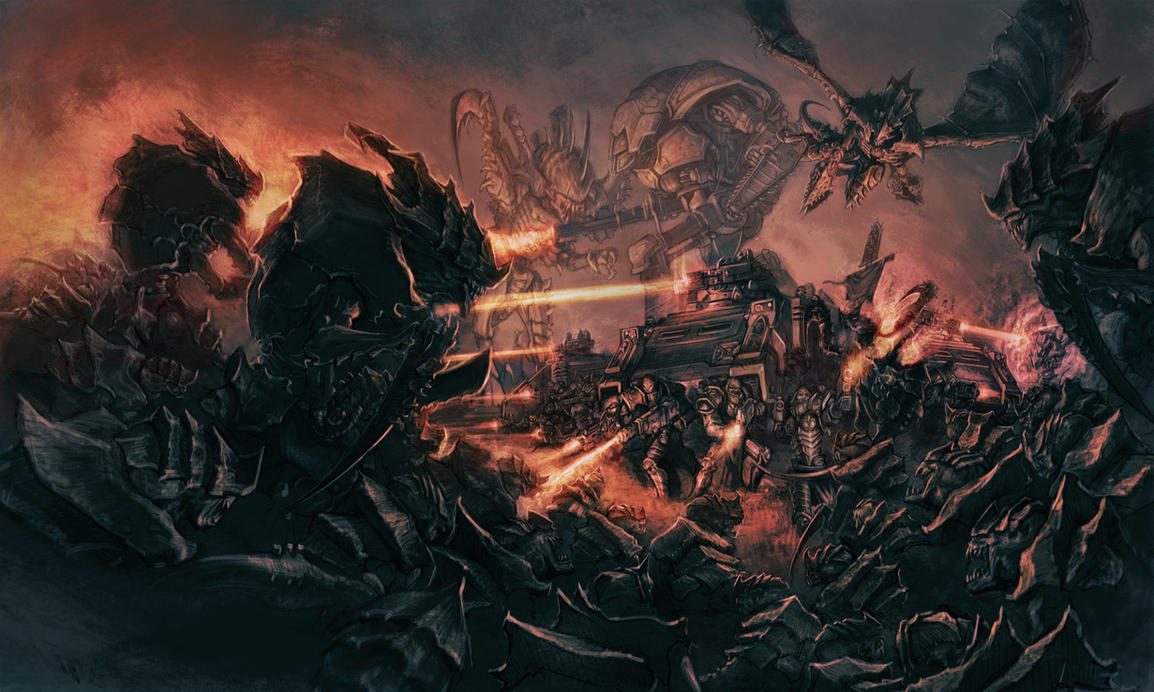 Tyranids (W40K) vs Zerg (StarCraft) scenario | SpaceBattles Forums