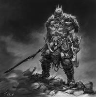 Adrian Smith Style Barbarian by Art--Tool