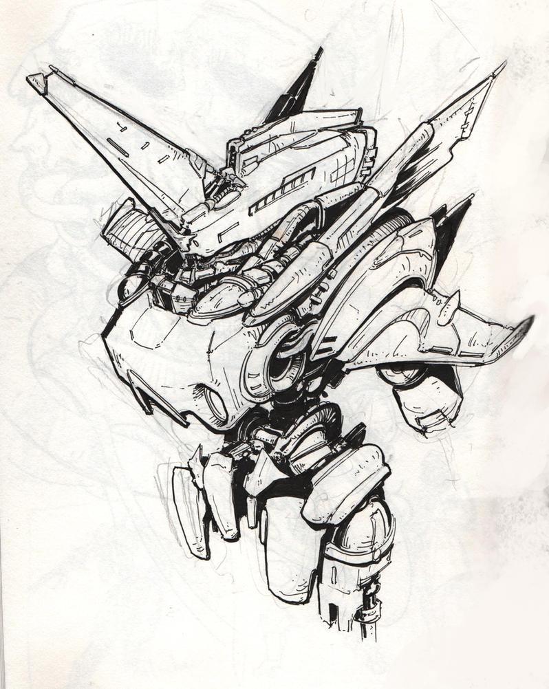 Bad Ass Mech Drawing. by Art--Tool on DeviantArt