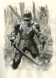 Knight Ink Painting