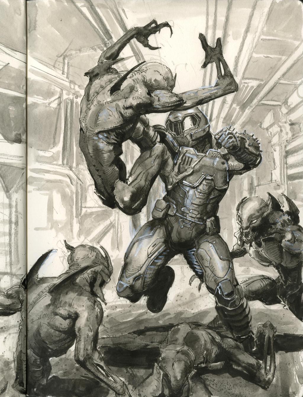 Doom Slayer Smash By Art Tool On Deviantart