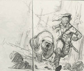 Indian Pursued by a Bear