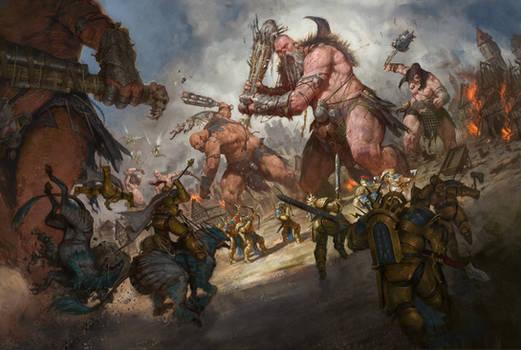 Sons of Behemat Battlescene