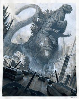 Shin Godzilla Ink Painting