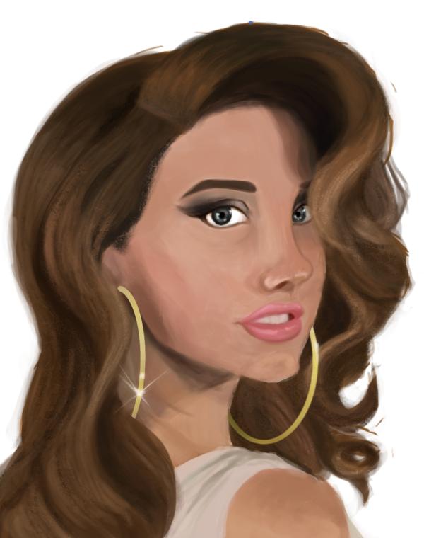 Lana Del Rey by NastyaFlora