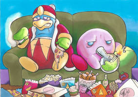 KIRBY GETS HIGH by TheCartoonLoon