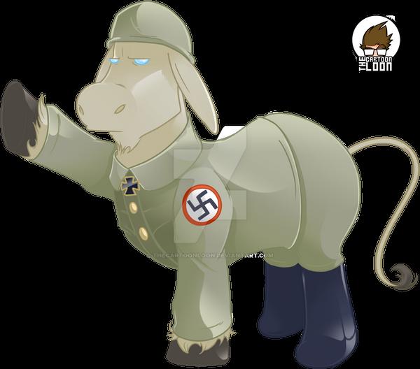 Nazi Donkey by TheCartoonLoon