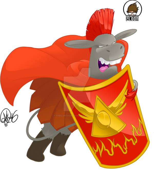 Centurion Donkey by TheCartoonLoon