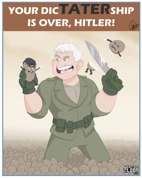 Hitlers dicTATERship is OVER