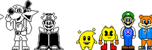 Condemned Characters some of Cast Battle Sprites by underskins201x