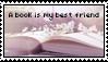 A book is my best friend stamp by Savanah25