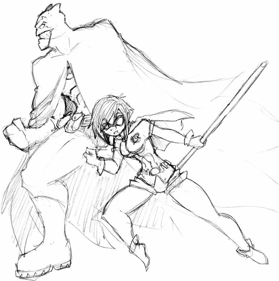 BATMAN AND ROBIN by Ruxikah