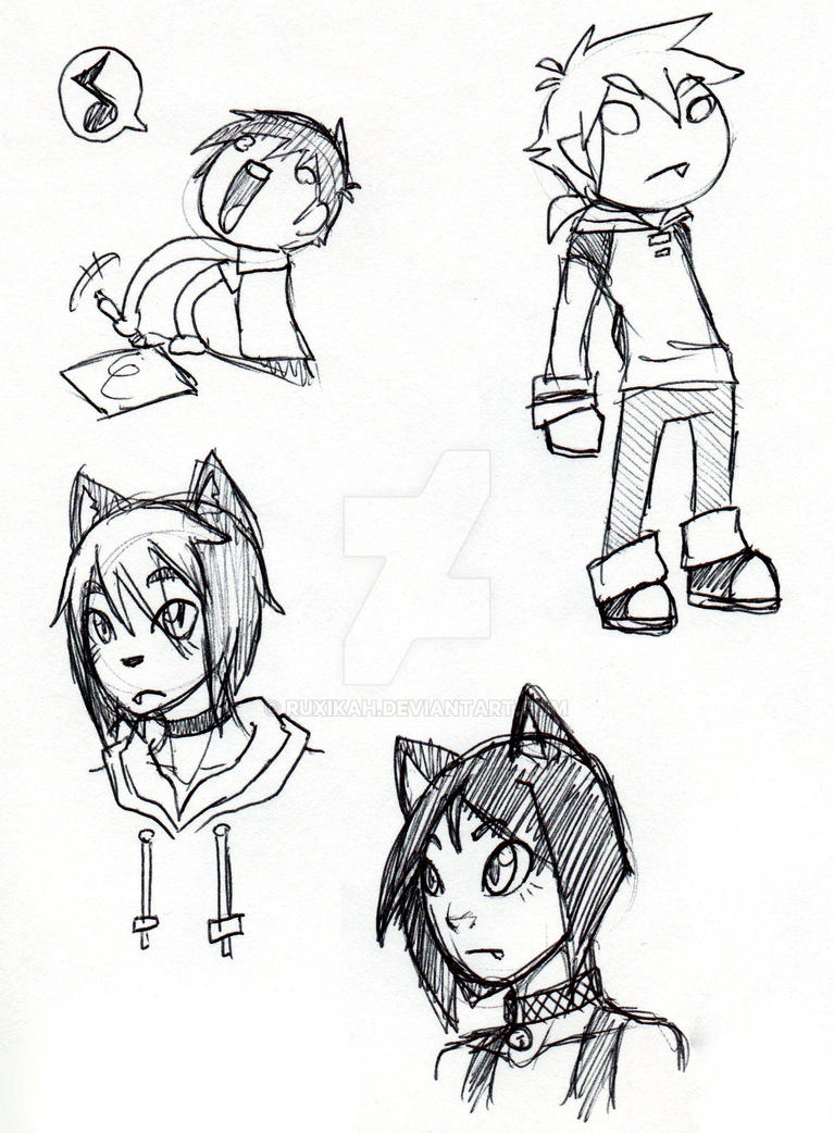 Pen sketches3 by Ruxikah