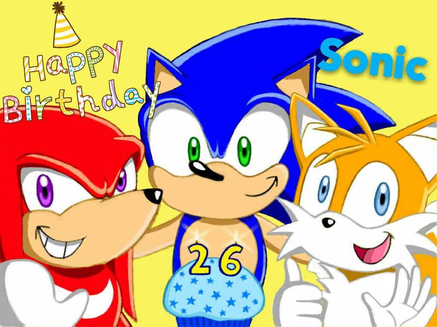 Happy Birthday Sonic (26th Anniversary) by Anni-Chan97