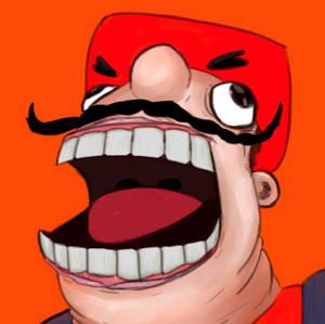 Mario does th funni scream