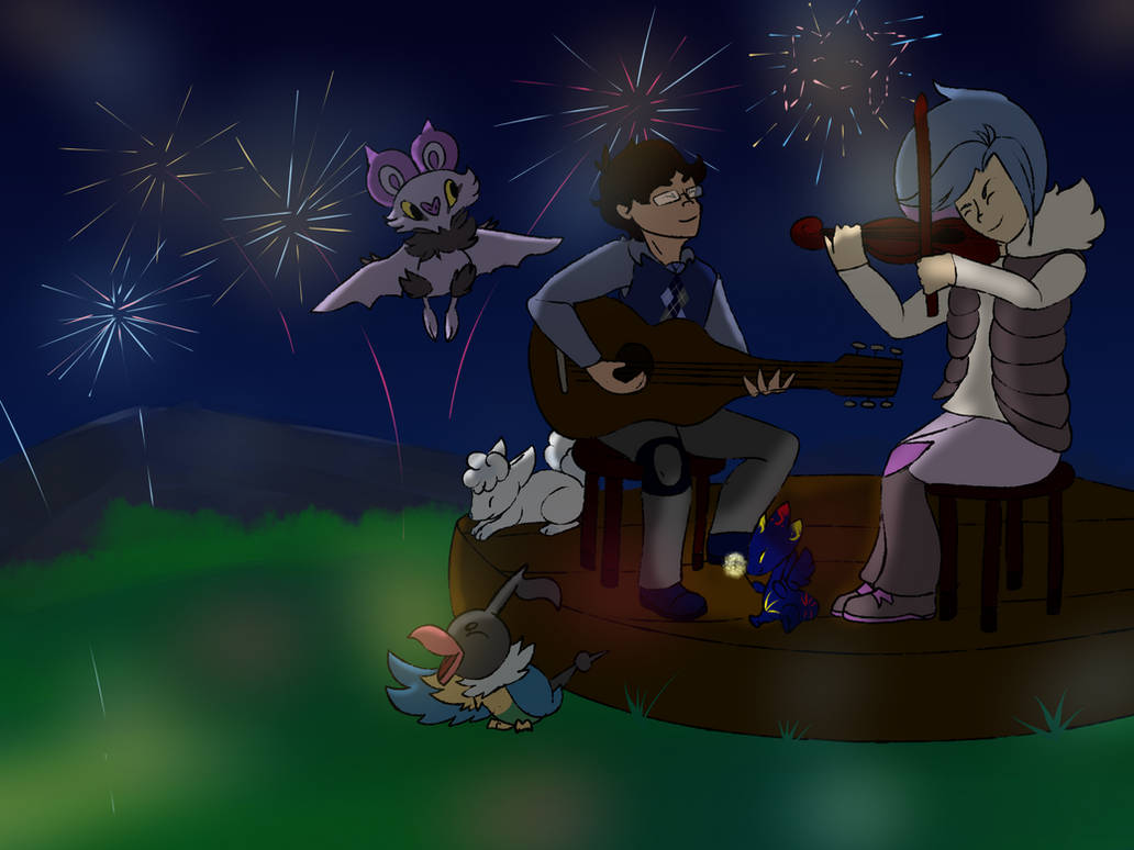 BB - colab] Fireworks show by MP-Potion on DeviantArt