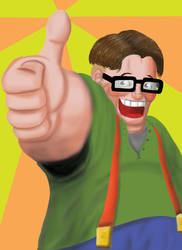 Thanks for the Ad : Geek Fight by treuer