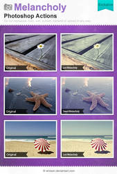 Melancholy Photoshop Actions by Wnison
