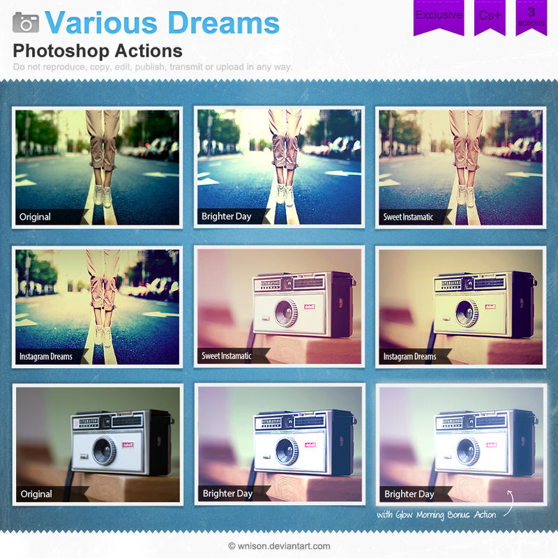 Various dreams photoshop actions by wnison on deviantart various dreams photoshop actions by wnison ccuart Choice Image