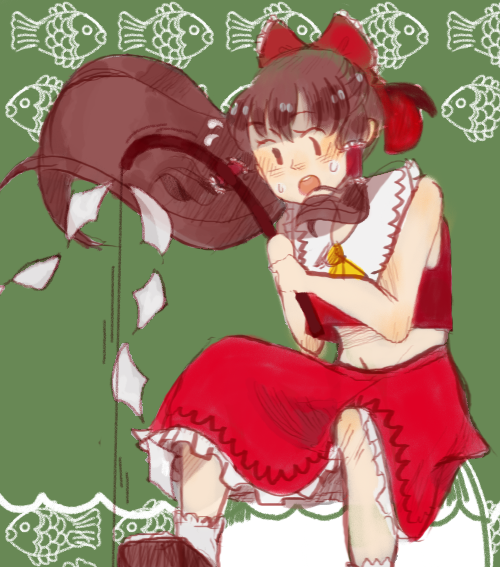 Reimu by honeysempailover