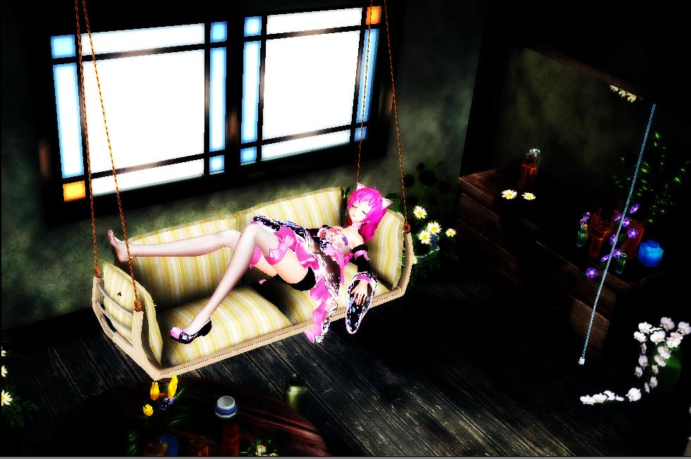 MMD Sleeping by yuu-333